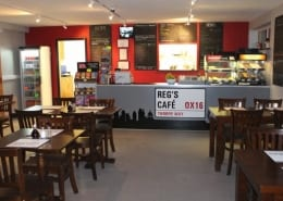 Regs Cafe in Banbury Dining Area